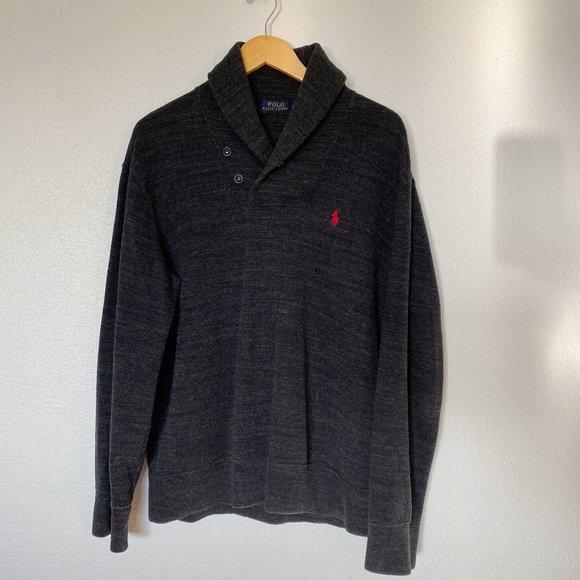 Polo Ralph Lauren French Rib Shawl Pullover Knit